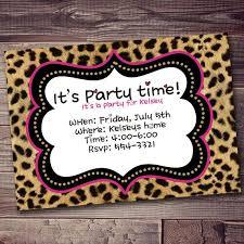 Free Printable Animal Print Birthday Invitations Jins Invitations