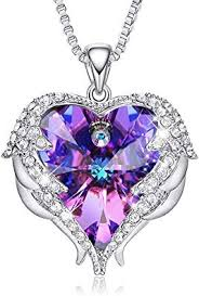 CDE Necklace for Women Angel Wing Heart Pendant ... - Amazon.com