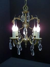 light bulb in spanish vintage petite brass crystal chandelier small four light crystal light bulb socket