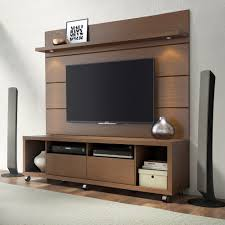 cabrini nut brown tv stand floating wall tv panel w 1 8 led lights by manhattan comfort