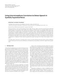 PDF) Using Intermicrophone Correlation to Detect Speech in Spatially  Separated Noise