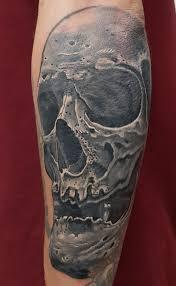 череп мужская тату на предплечье фото татуировок