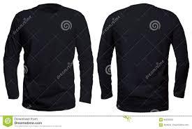 Long Sleeve Tee Design Black Long Sleeve Shirt Mock Up Stock Image Image Of Color