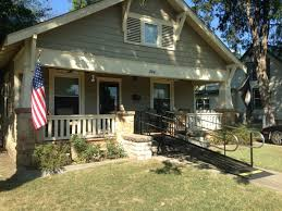 the front entrance of this lovely sapulpa ok home is now accessible with a wheelchair