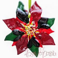 Poinsettia Glasfusingetsyetsyshoprosaspotpourrischmelz