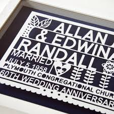 personalised 60th wedding anniversary gift