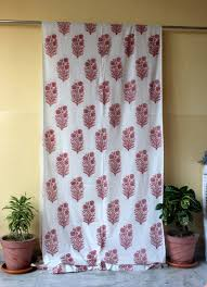 window hanging cotton voile indian hand block printed cotton shower curtain door valances window curtains ssthc06