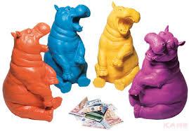 Money <b>Box</b> Pop <b>Hippo</b> Assorted