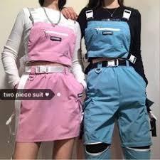 Summer <b>red</b> skirts mini women harajuku trendy <b>streetwear gothic</b> ...