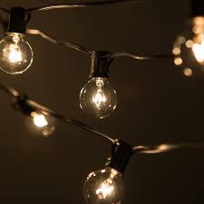 Big Bulb String Lights 50 Foot G40 Globe Patio String Lights With Clear Bulbs