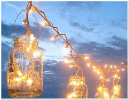mason jar string lights diy blue mason jar string lights
