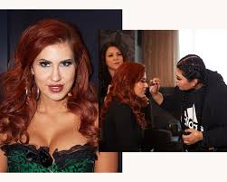 artist istant makeup daily savana styles prepares to appear at avn awards