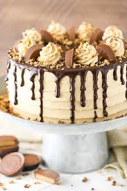 Peanut Butter Chocolate Layer Cake Reeses Peanut Butter Cups