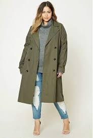plus size long line trench at forever 21