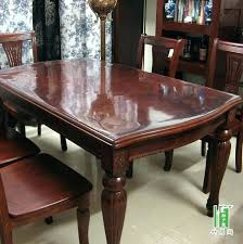 glass top dining tables with wood base oval glass top dining table glass cover for table