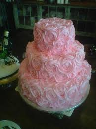 Pink Rosettes Wedding Cake Picture Of Betty Cakes Cake Shop Dade