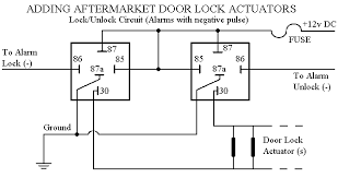 car alarm door lock wiring Central Locking Wiring Diagram reversing door locks diagram show wiring diagram central locking saab 9-3