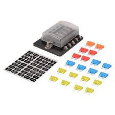 10 way blade fuse box block holder fuse included for car boat 6v 12v 10 way fuse box 10 way blade fuse box block holder fuse included for car boat 6v 12v 24v ma1286