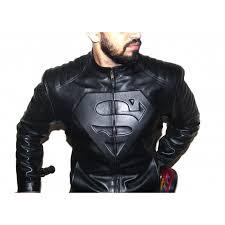 exquisitely designed stylish superman leather jacket for men jk123