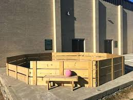 quoet wooden gaga ball pit k33432 griffin constructed this gaga ball pit at elk lake for amazing wooden gaga ball pit