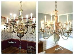 appealing painting a brass chandelier brass chandelier painted black brass chandelier makeover also best brass chandelier