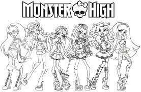 Small Picture Printable Monster High Coloring Pages Kids Coloring