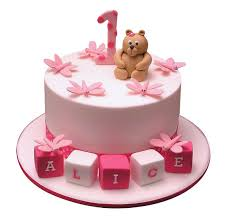 Buy Pink First Birthday 3d Cake 1kg Tf Cakes