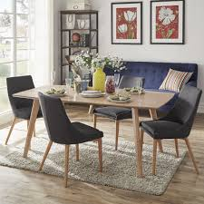 Image Scandinavian Style Abelone Scandinavian Dining Table By Inspire Modern Overstockcom Shop Abelone Scandinavian Dining Table By Inspire Modern Free