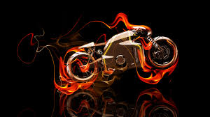 lotus c  fire abstract bike