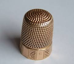 good quality antique 14ct solid gold thimble c1888