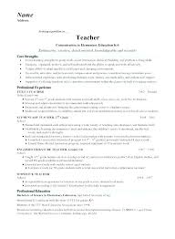 Teaching Resume Sample Best Of Teacher Resume Examples 24 Teacher Resume Examples Elementary