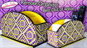 how to make remote holder remote organizer best out of waste diy artkala 127
