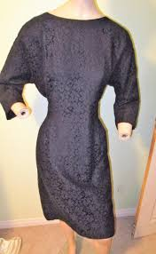 Vtg. 1950s Wendy Lane Montreal Canada Black Lace Lined Wiggle | Etsy