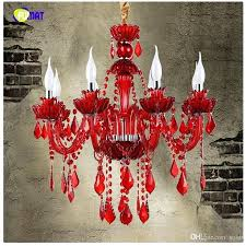 red crystal chandelier style red crystal chandelier cafe restaurant bar lamp coffee diffuse crystal chandelier candle red crystal chandelier
