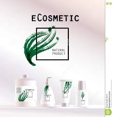 Cosmetic Label Design Template Vector Cosmetic Insignia On White Background Stock Vector