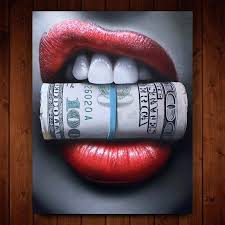 gold lip wall art lips red canvas hobby lobby
