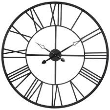 matte black metal wall clock hobby
