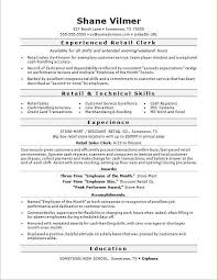 Retail Job Resume Samples Gentileforda Com