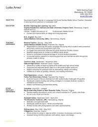 Resume Templates For Students In High School Or Teacher Resume