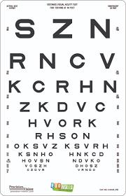 eyewalls l stick sloan letters etdrs style translucent distance chart