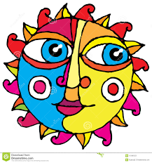 Drawingcolor Big Eye Sun Simple Hand Drawing Color Stock Photos Image 10186123