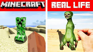 MINECRAFT CREEPER IN REAL LIFE ...