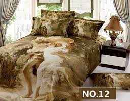 luxury modern 3d bedding sets unique oil painting comforter set 4pc designer duvet cover bed sheet sets pillowcases king size in bedding sets from home