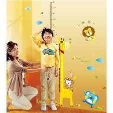 Tall Giraffe And Friends Height Chart Wall Sticker