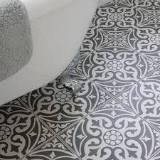 floor tiles for bathrooms. Bathroom-with-roll-top-bath-and-patterned-floor- Floor Tiles For Bathrooms I
