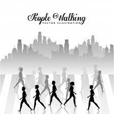 People Walking Design Vector Illustration Eps10 Graphic Vector