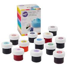 Wilton Food Gel Chart Wilton Icing Colors 12 Count Gel Based Food Color
