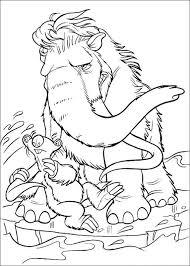 Kleurplaat Ice Age 2 Manny En Sid 123 Coloring Pages For Kids