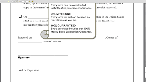 tenant renewal letter arizona 30 day notice of expiration of lease and non renewal