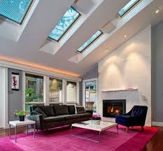 view in gallery and brilliant living room design studded with chic skylights